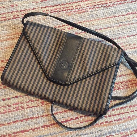 8b10372fd0d5 Fendi Handbags - Vintage Fendi Envelope Clutch Shoulder Bag